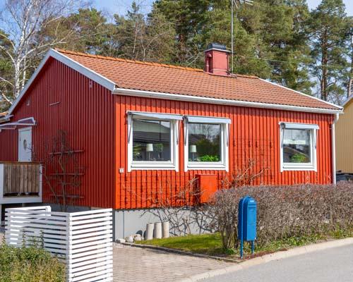 Utvändig målning av hus